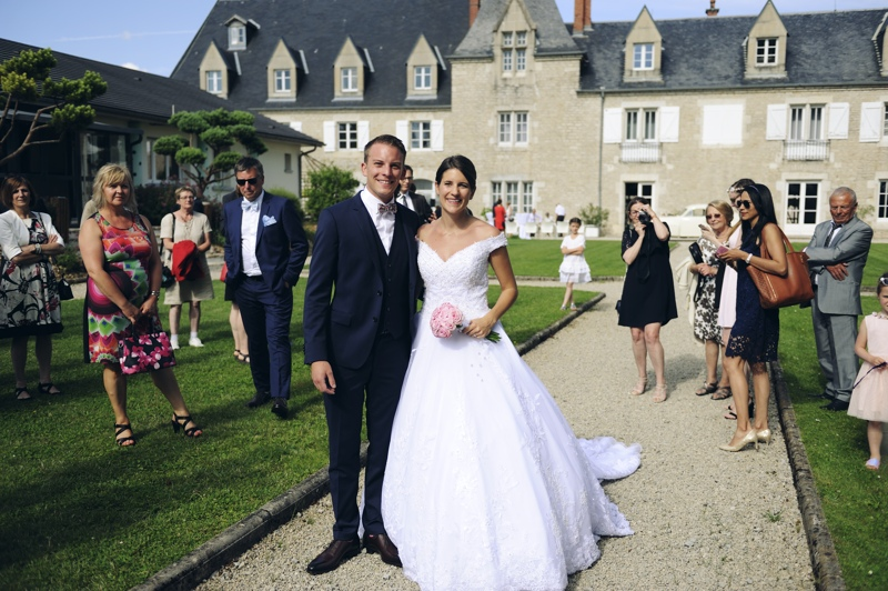 Des mariés à l'espace Beltane