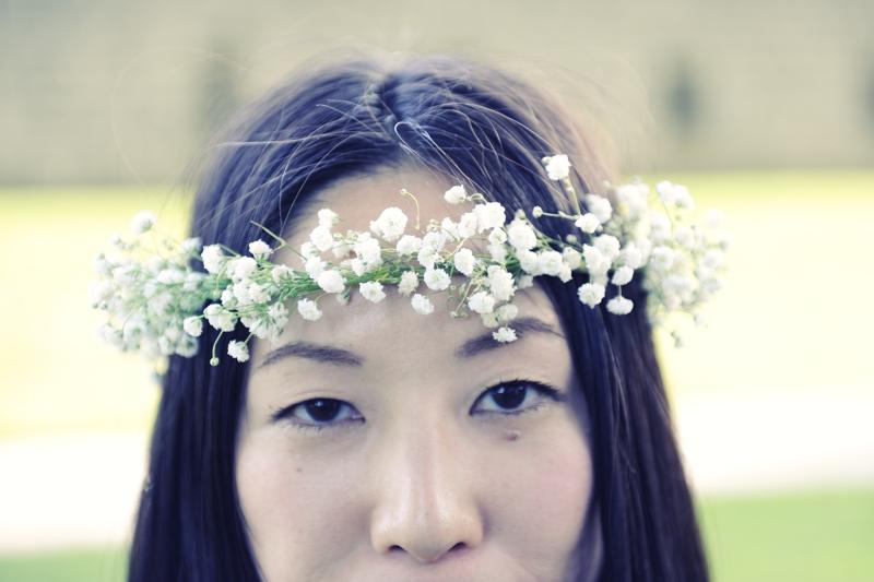 Mariée japonaise fleurs