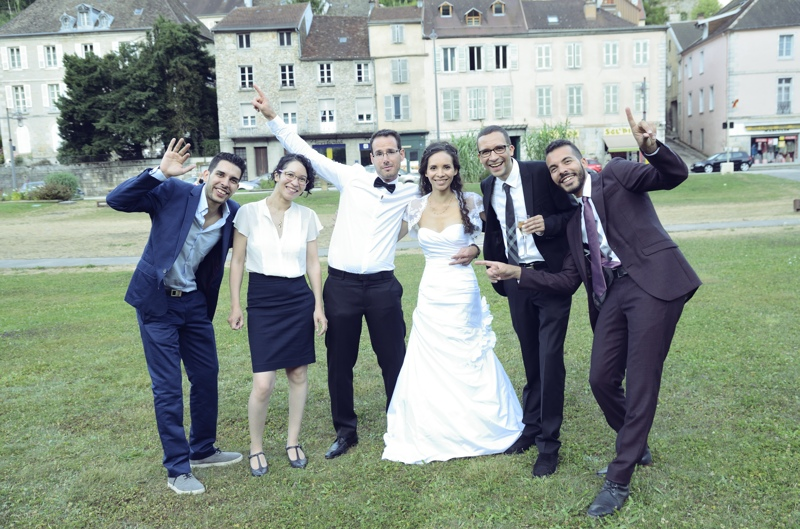 Photo mariage groupe casino salins
